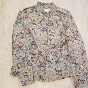 H&M Floral Cargo Jacket
